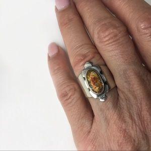Jewelry - Handmade sterling silver & druzy ring